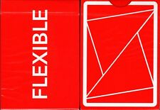 FLEXIBLE Red Cardistry Playing Cards Poker Size Deck USPCC Custom Limited New