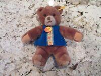 "Vintage Circa 1982 Toldi STEIFF Teddy Bear 6242/30 Stuffed Plush Animal 12"" SOFT"