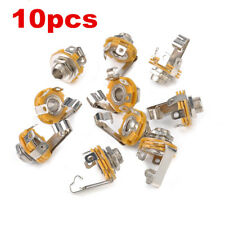 10 x 6.35mm 1/4 Inch Mono Audio Socket Jack Female Connector Panel Mount Solder