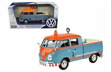 MOTORMAX VOLKSWAGEN TYPE 2 (T1) DELIVERY PICKUP TRUCK BLUE/ORANGE 1:24 CAR 79555
