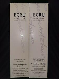 (2) ECRU New York Luxe Treatment Shampoo & Protective Silk Conditioner