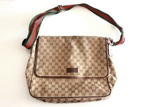 GUCCI GG Canvas CROSSBODY Green/Red WEB MESSENGER SHOULDER BAG 233052 (Supreme)