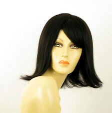 wig for women 100% natural hair black ref CORALIE 1B PERUK
