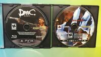 Devil May Cry 4 + DMC -  Sony PlayStation 3 PS3 Game Lot Tested & Working