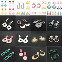 Fashion Women Acrylic Geometric Oval Statement Dangle Drop Earrings Jewelry Gift
