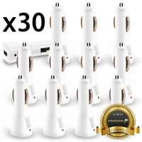 30x Wholesale Lot Car Charger USB Adapter Samsung Galaxy S10 Note 9 Phone XS Max