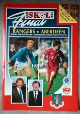 Rangers v Aberdeen League Cup Final 1989 Football Matchday Programme