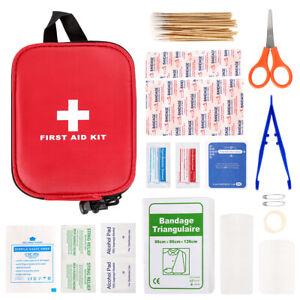 100PC Kit primo soccorso Kit medico emergenza sopravvivenza Borsa Camping casa