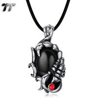 High Quality TT 316L S.Steel Scorpion Pendant Necklace Black Onyx (NP293D) NEW