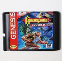 Castlevania Bloodlines 16 bit MD Game Card For Sega Mega 1994 Cartridge Box NTSC
