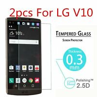 2Pcs 9H+ Real Premium Tempered Glass Film Screen Protector For LG V10
