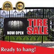 Tire Sale Now Open Banner Vinyl / Mesh Banner Sign Auto Repair Clearance Car Ac