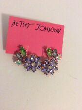 BETSEY JOHNSON SPRING FLING FLOWER CLUSTER STUD EARRINGS $35 W28