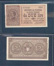 VITTORIO EMANUELE III 2 LIRE  DEC.28/12/1917 F.D.S. R@RO 2 A.