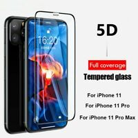 5D Full Coverage Tempered Glass For iPhone 11 Pro XS Max XR X Screen Protector