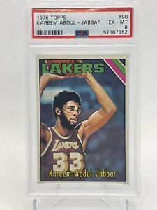 1975 Topps #90 Kareem Abdul Jabbar PSA 6 Lakers 1st Basketball Card