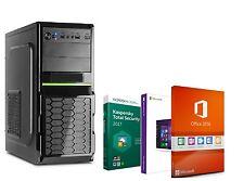 PC UFFICIO COMPUTER QUAD CORE 16GB RAM 250 GB SSD 1TB Windows 10 Office