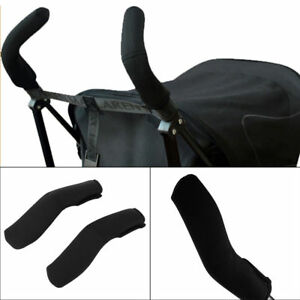 New Grip Cover Baby Pushchair Foam 2pcs/set Black Modern Stroller Handle Cover
