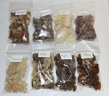 Resin Incense Variety Sampler Set: 8 Fragrances, 8 x 1/2 oz bags