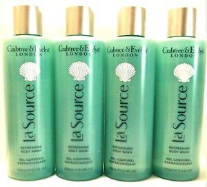 Crabtree & Evelyn LA SOURCE Refreshing Body Wash, 8.5 fl. oz/250 mL, NEW x 4