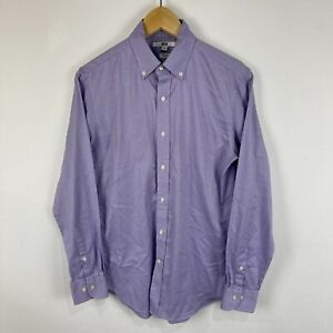Uniqlo Mens Button Up Shirt Size XS Slim Fit Purple Long Sleeve Collared 60.11