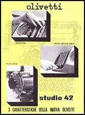 PUBBLICITA' 1939 OLIVETTI STUDIO 42 MACCHINA SCRIVERE PORTATILE CARATTERISTICHE