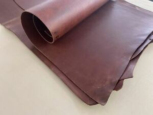 3.5-4mm thick dyed veg tan leather craft - tan brown & grade B full hide