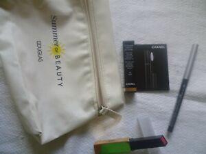 Lippenstift YSL + Kajal Clinique + Wimperntusche Chanel + Kosmetiktasche NEU