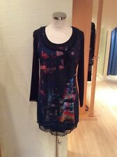 Jean Gabriel 2pc Tunic Top Size 12 Black Multi Print BNWT RRP £105 Now £30
