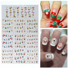 Santa Water Transfer Decals Manicure Stickers Foil Wraps Decoration Nail Art