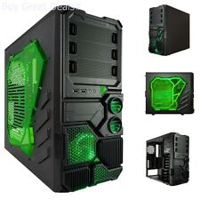 Cooling Light Mid Tower Case Full Micro ATX Chassis Gaming Computer Gamer PC