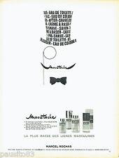 PUBLICITE ADVERTISING 066  1967  Marcel Rochas  after shave eau Cologne Moustach