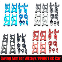 Metal Front Rear Wheel Lower Swing Arms for WLtoys 144001 RC Model Car Upgrade
