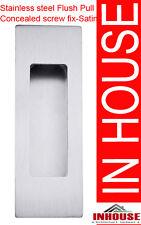 Square Edge Stainless steel Flush pull handles Sliding Door Handles 120x40mm