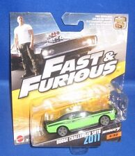 FAST & FURIOUS 7 MOVIE DODGE CHALLENGER SRT8 2011 #5/32 MATTEL COLLECTIBLE, NEW