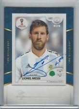 2018-19 Panini Treble World Cup Sticker Signatures Auto Lionel Messi Argentina
