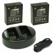 Wasabi Power Battery (2-Pack) and Dual Charger for Olympus BLH-1