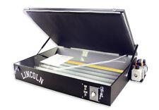 Lincoln Vacuum Exposure Unit for Screen Printing screenprinting silk screening