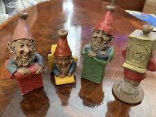Tom Clark Set Of 4 Vintage Gift Gnomes With Coas