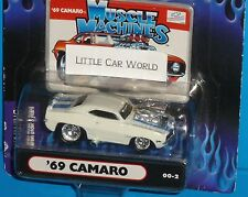 2000 THE ORIGINAL MUSCLE MACHINES '69 Chevy Camaro Z-28 #00-2 Real Riders 1969