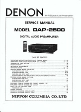 Denon Service Manual für DAP- 2500  Copy