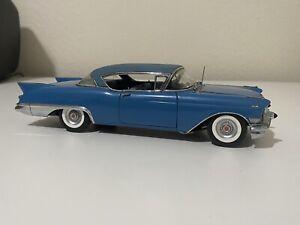 1957 Cadillac Eldorado Seville Danbury Mint 1:24 Blue *READ*