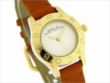 Marc by Marc Jacobs Gold Mini Blade Tan Leather Strap Women's Watch MBM1219