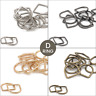 Metal D Rings Buckles for Webbing Strap Tape 20 25 30 35 40mm Welded Fastening