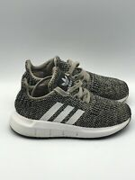 ADIDAS Boys Shoes EVA 791005 Black Knit Mesh Sneakers Youth Size 8K