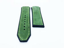 Green 29/24mm Top Suede Leather Strap/Band fit HUBLOT Watch Big Bang