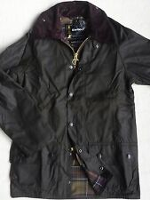 Barbour Beaufort Classic  Mens Waxed-Cotton Jacket - Olive, Size 34 MSRP $399