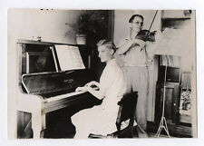 PHOTO ANCIENNE Musicien Piano Pianiste Couple Alphonse Oury Photomontage Montage