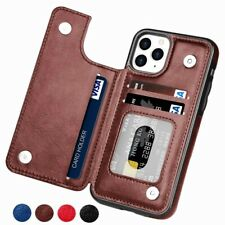 iPhone 12 11 Pro Mini Max X 8  Case Leather Wallet Card Holder Magnet Flip Cover
