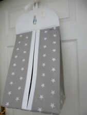 Baby Nappy Stacker Grey/White STAR Cotton 'PETER RABBIT' Nursery Baby Gift - NEW